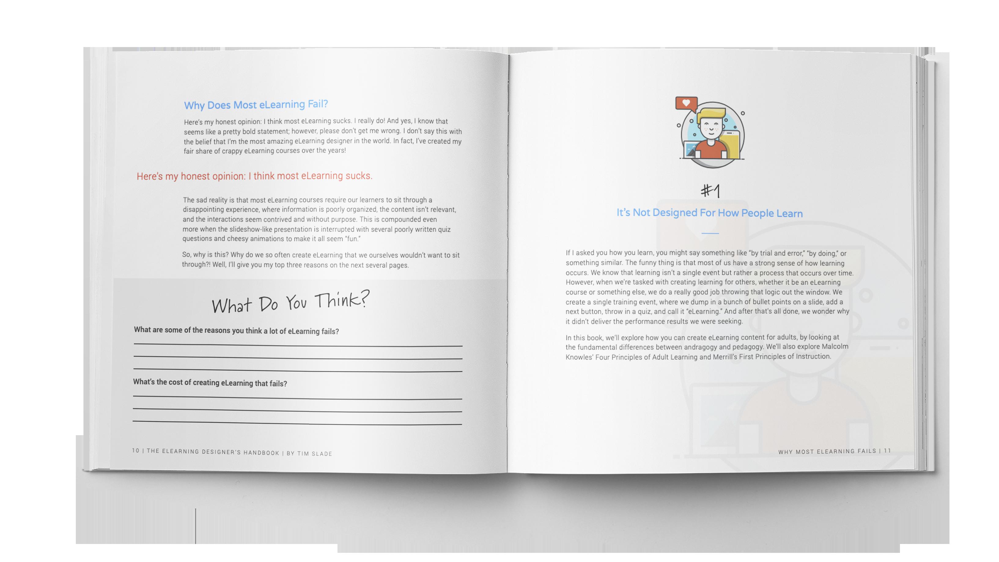 The eLearning Designer's Handbook by Tim Slade | Why Most eLearning Fails | Freelance eLearning Designer | The eLearning Designer's Academy